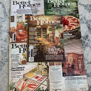 Set of 1979 Better Homes and Garden Magazines